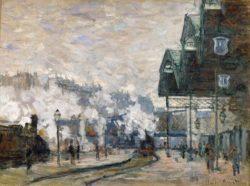 "Claude Monet ""Bahnhof Saint-Lazare in Paris"" 81 x 64 cm"