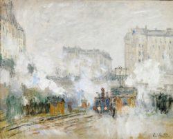 """Claude Monet """"Bahnhof Saint-Lazare"""" 72 x 60 cm"""