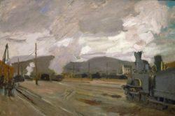 """Claude Monet """"Der Bahnhof von Argenteuil"""" 71 x 47 cm"""
