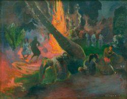 """Paul Gauguin """"Der Feuertanz (Upaupa)""""  92 x 73 cm"""