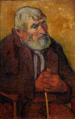 "Paul Gauguin ""Alter Mann mit Stock""  45 x 70 cm"