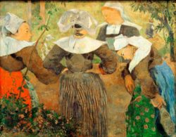 "Paul Gauguin ""Bretonische Bäuerinnen""  91 x 72 cm"