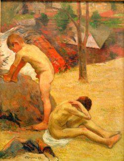 """Paul Gauguin """"Badende bretonische Knaben""""  73 x 92 cm"""