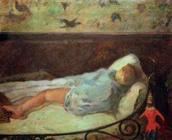 """Paul Gauguin """"Die kleine Träumerin""""  74 x 60 cm"""