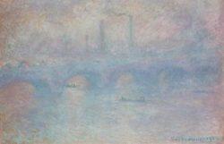 """Claude Monet """"Waterloo Bridge im Nebel"""" 101 x 65 cm"""