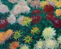 "Claude Monet ""Chrysanthemenbeet"" 100 x 81 cm"
