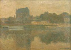 """Claude Monet """"Kirche von Vernon im Nebel"""" 92 x 65 cm"""