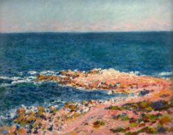 "Claude Monet ""Die Grande Bleue in Antibes"" 73 x 60 cm"