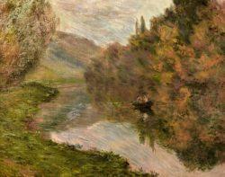 """Claude Monet """"Ruderboot auf der Seine bei Jeufosse"""" 73 x 60 cm"""