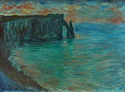 """Claude Monet """"Steilküste von Aval"""" 81 x 60 cm"""