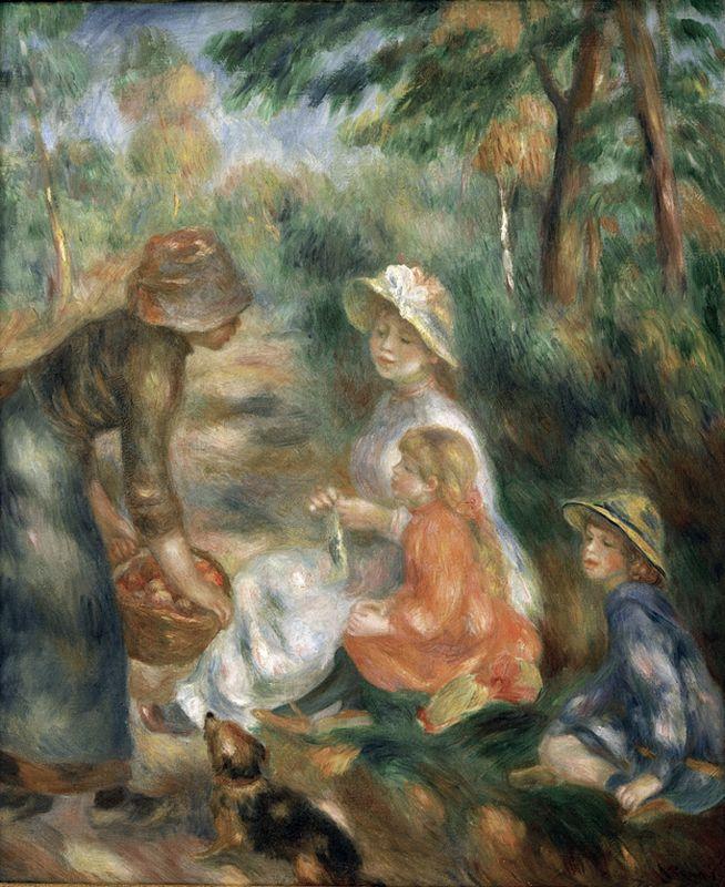 """Auguste Renoir """"Apfelverkäuferin"""" 54 x 65 cm"""