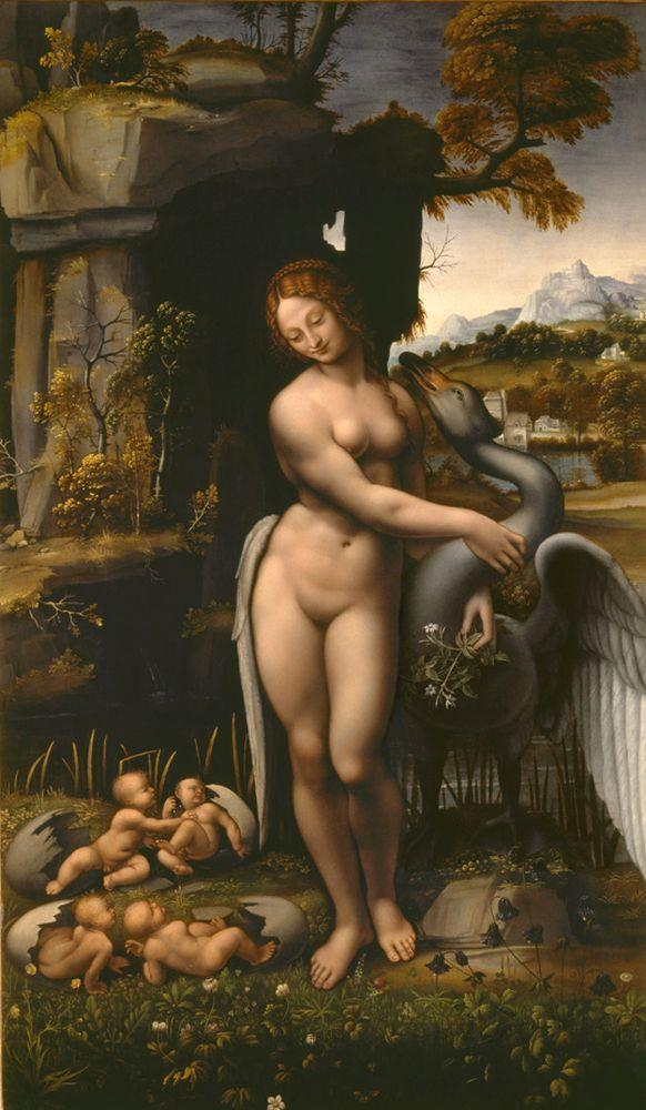 """Leonardo da Vinci """"Leda"""" 78 x 132 cm"""