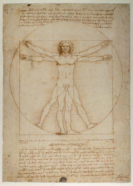"Leonardo da Vinci ""Proportionsschema "" 25 x 34 cm 1"