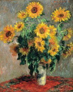 """Claude Monet """"Sonnenblumenstrauß"""" 81 x 101 cm"""