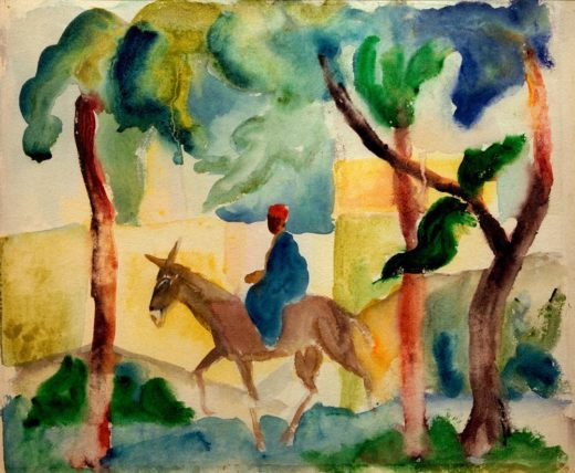 "August Macke ""Eselsreiter"" 31 x 25 cm 1"