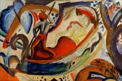"""August Macke """"Nackte Mädchen in der Barke"""" 50 x 34 cm"""