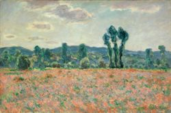 """Claude Monet """"Feld mit Mohnblumen"""" 92 x 60 cm"""