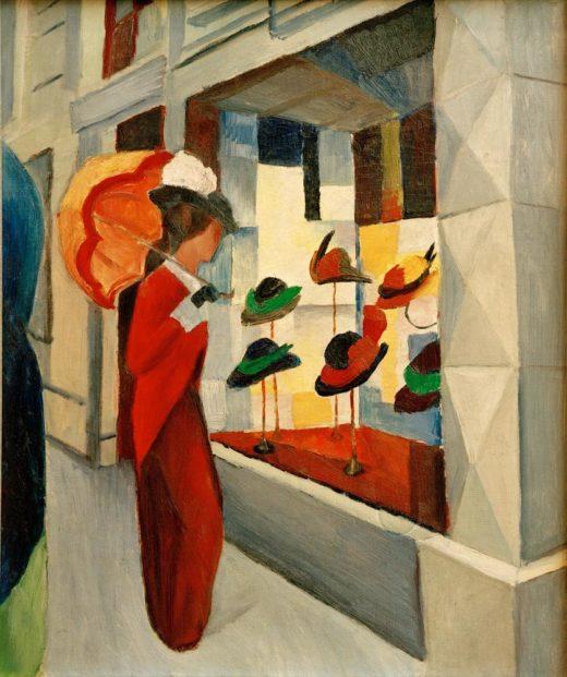 """August Macke """"Hutladen"""" 51 x 61 cm 1"""