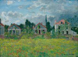 """Claude Monet """"Häuser in Argenteuil"""" 73 x 54 cm"""