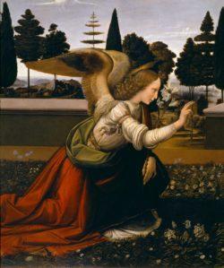 """Leonardo da Vinci """"Engel der Verkündigung (Ausschnitt)"""" 217 x 98 cm"""