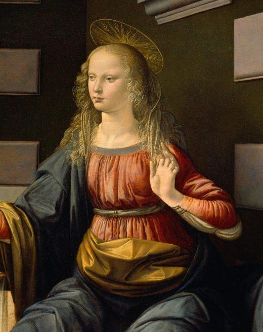 "Leonardo da Vinci ""Maria (Ausschnitt aus Verkündigung)"" 217 x 98 cm 1"