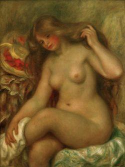 """Auguste Renoir """"Badende mit übergeschlagenen Beinen und Hut"""" 73 x 92 cm"""