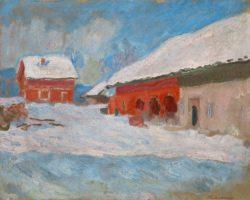 """Claude Monet """"Die roten Häuser in Bjönnegaard"""" 81 x 65 cm"""