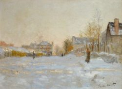 """Claude Monet """"Argenteuil bei Schnee"""" 74 x 55 cm"""