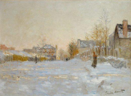 """Claude Monet """"Argenteuil bei Schnee"""" 74 x 55 cm 1"""