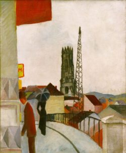 """August Macke """"Kathedrale zu Freiburg in der Schweiz"""" 50 x 61 cm"""