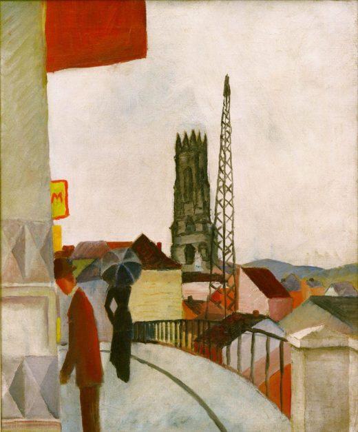 """August Macke """"Kathedrale zu Freiburg in der Schweiz"""" 50 x 61 cm 1"""