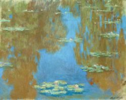 "Claude Monet ""Nympheas -Seerosen"" 92 x 73 cm"