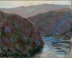 """Claude Monet """"Tal der Creuse am Abend"""" 81 x 65 cm"""