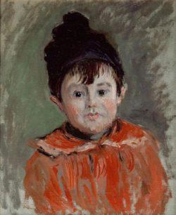 """Claude Monet """"Bildnis Michel Monet mit Bommelmütze"""" 38 x 46 cm"""