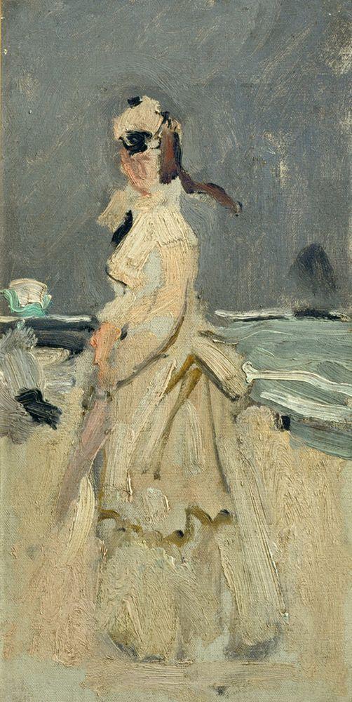"Claude Monet ""Camille am Strand"" 15 x 30 cm 1"