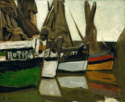"Claude Monet ""Fischerboote Honfleur"" 45 x 37 cm"