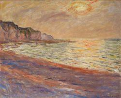 """Claude Monet """"Strand bei Pourville"""" 73 x 60 cm"""