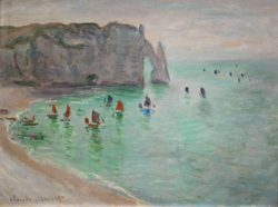 """Claude Monet """"Ausfahrt der Fischerboote"""" 81 x 60 cm"""
