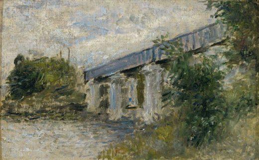 "Claude Monet ""Die Eisenbahnbrücke bei Argenteuil"" 23 x 14 cm 1"