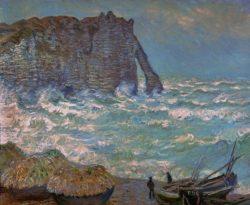 """Claude Monet """"Stürmisches Meer bei etretat"""" 100 x 81 cm"""