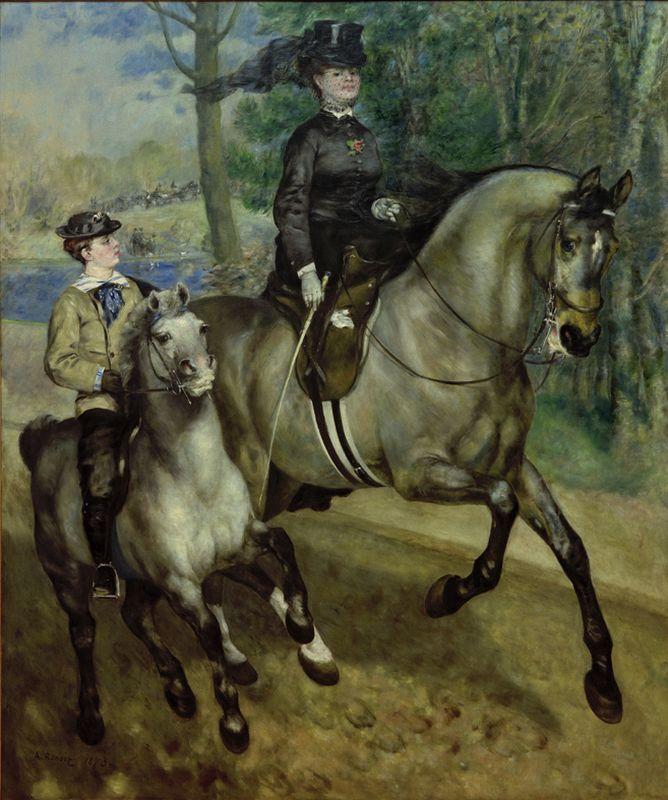 """Auguste Renoir """"Reiterin im Bois de Boulogne"""" 226 x 261 cm"""