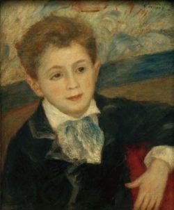 """Auguste Renoir """"Bildnis von Paul Meunier Sohn von Murer"""" 38 x 46 cm"""