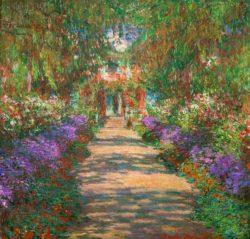"""Claude Monet """"Garten in Giverny"""" 92 x 89 cm"""