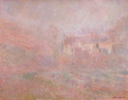 """Claude Monet """"Häuser in Falaise im Nebel"""" 92 x 73 cm"""