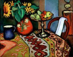 """August Macke """"Stilleben mit Sonnenblumen I"""" 105 x 81 cm"""