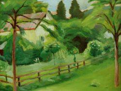 """August Macke """"Landhaus mit Garten"""" 49 x 38 cm"""