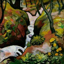 "August Macke ""Waldbach"" 61 x 62 cm"