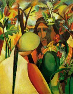 """August Macke """"Indianer"""" 70 x 88 cm"""