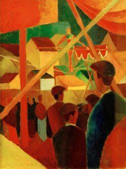 """August Macke """"Seiltänzer"""" 60 x 82 cm"""