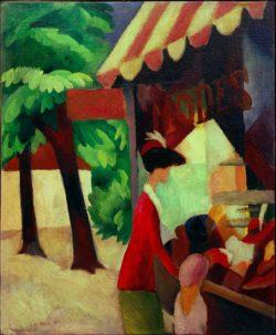 """August Macke """"Vor dem Hutladen"""" 44 x 54 cm"""